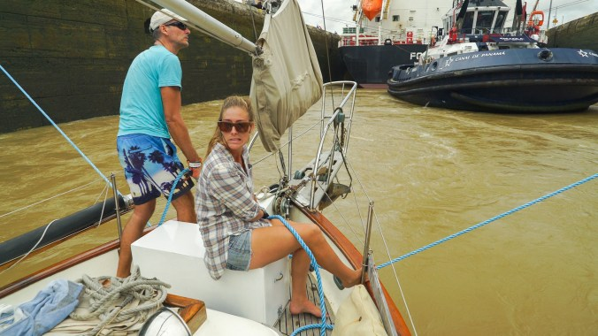 Shannon and Jöurn Manned the bow lines while we were center chambered