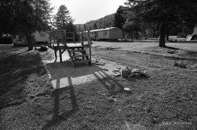 Many community meetings were held at this site after the trailer home was removed.
