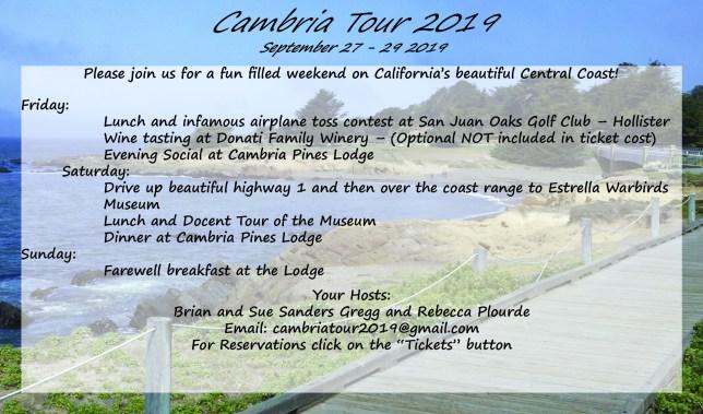 Cambria Tour 2019 @ Cambria Lodge