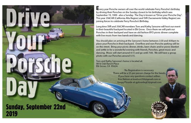 Drive Your Porsche Day @ Sansone's Backyard | Elk Grove | California | United States