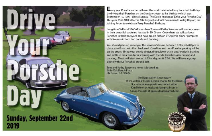 Drive Your Porsche Day @ Sansone's Backyard | Elk Grove | California | United States