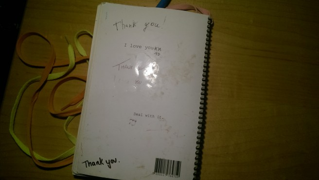 Back Cover: I love you. Deal with it.