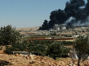 Удары неизвестного беспилотника, Сармада, Сирия