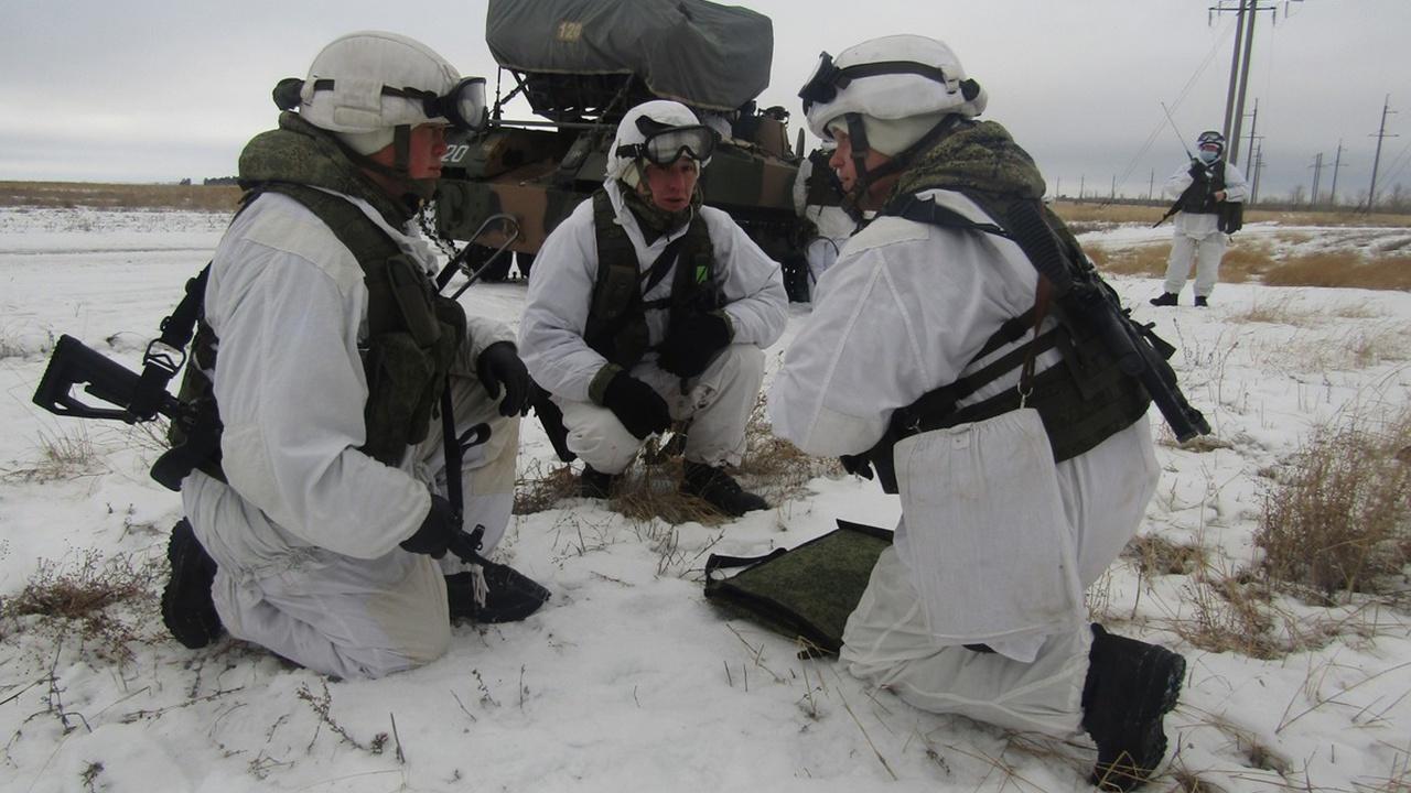 Полигон Камышинский под Волгоградом стал местом проведения тактического учения.