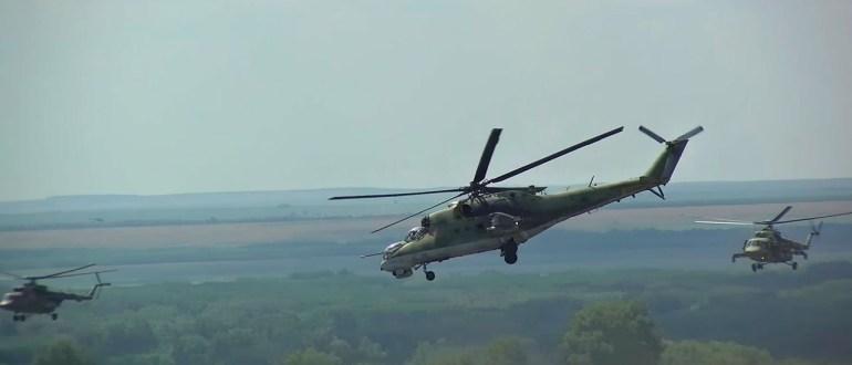 Более 20 вертолетов: кадры крупных учений ЦВО в Оренбургской области