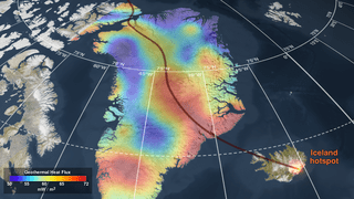 SVS: Geothermal Heat Flux Reveals the Iceland Hotspot Track underneath  Greenland