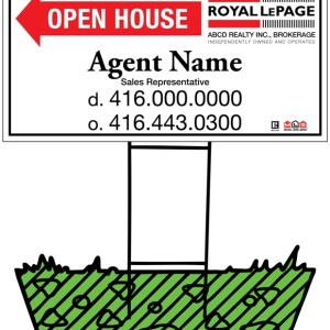 royal lepage real estate directional sign