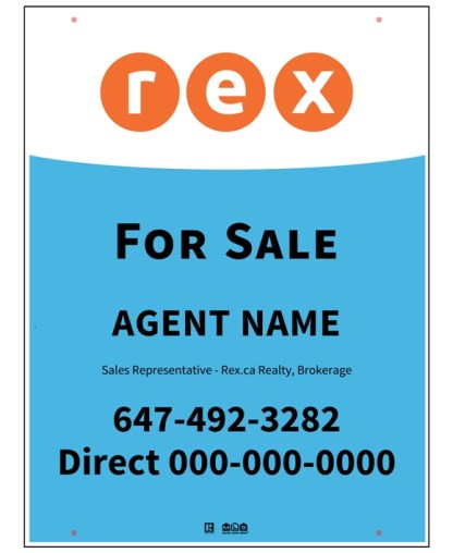 rex real estate for sale sign