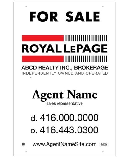 royal lepage real estate for sale sign