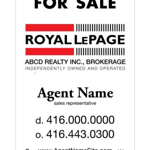 royal lepage real estate for sale sign