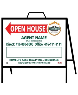 homelife real estate open house sign