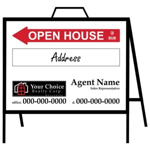 your choice real estate open house sign
