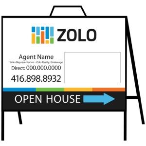 zolo real estate open house sign