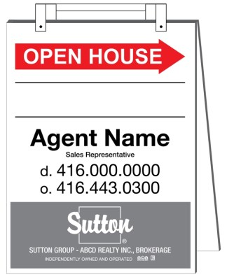 sutton real estate sandwich board sign