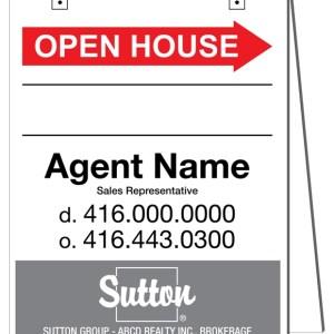 sutton real estate sandwich board sign