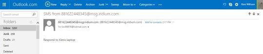 Email response from Iridium