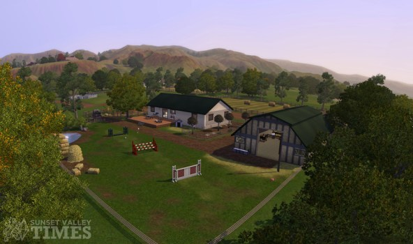 Sunset Valley Times and 3 Panorama's of Appaloosa Plains