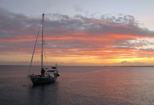 Sunset, Kralendijk anchorage