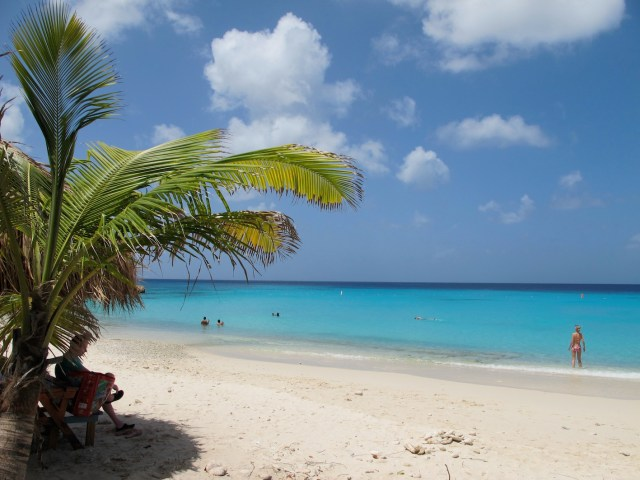 the beautiful waters of Nip beach, curacao
