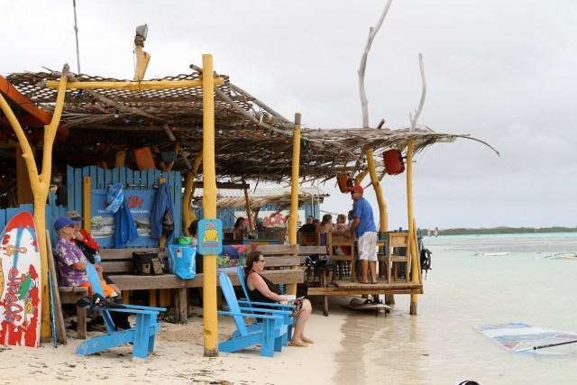 The bar and restaurant at Jibe City, Lac Bay
