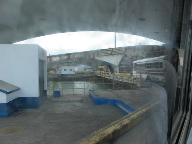 The road bridge across the Gatun Lock
