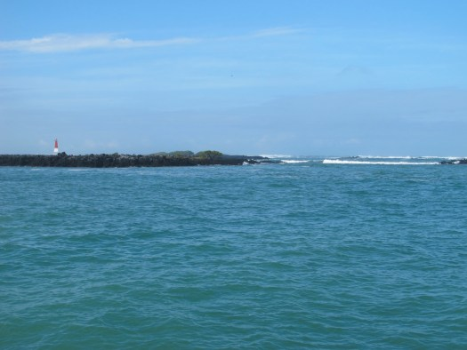 The reefs surrounding the anchorage, Isla Isabela