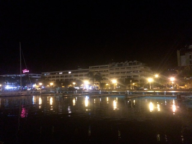 Papeete waterfront from the marina