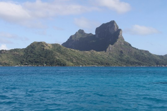 another view of the volcanic crater that is Bora Bora. on it's way to becoming a coral atoll
