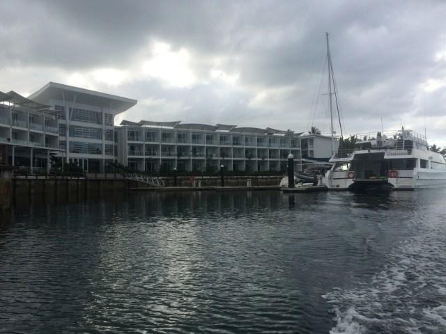 The marina at the Pearl Resort