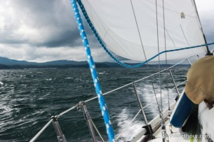 Upwind out of Nootka Sound