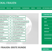 DFP-Pokal Frauen (Screenshot der DFB Homepage)