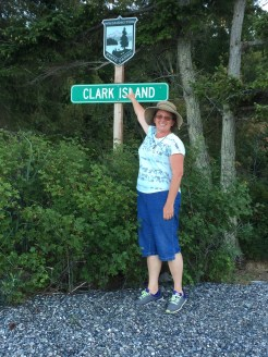 Claiming her Island! (Her last name is Clark)