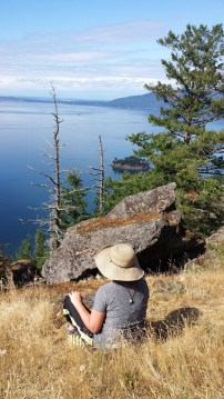 Enjoying Eagle Cliff view