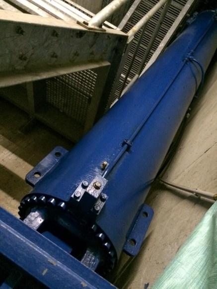 Hydraulikzylinder für die Wehrtore