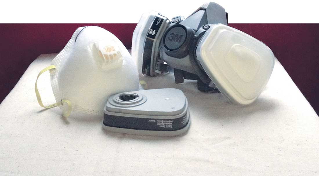a selection of respirators