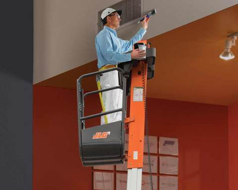 Access lifts free operator hands free to do work safely at height. This is not the case with ladders.