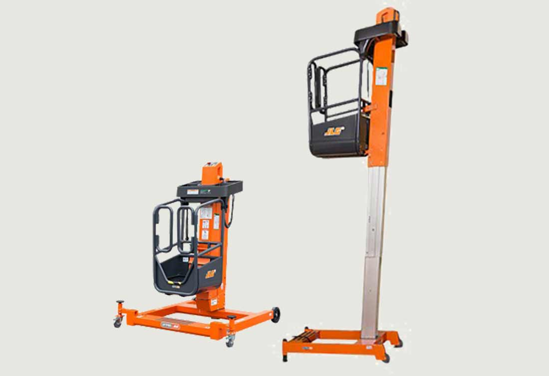 Photos of the JLG LiftPod FT70 and LiftPod FT140 personal portable lifts