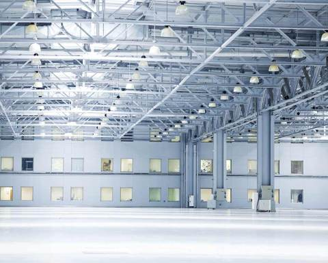 The distribution and warehousing space shown here requires the right coatings to help make it function better.