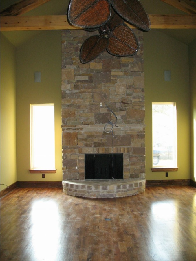 Custom fireplace southwest stucco