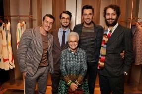 Giacomo & Marco & Ottavio Missoni & Francesco Maccapani Missoni with Rosita Missoni 2