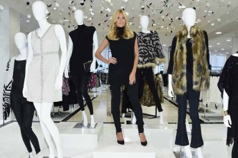 Heidi Klum Visits The INC International Concepts Shop At Macy's Herald Square