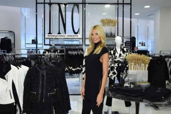 NEW YORK, NY - SEPTEMBER 10: Heidi Klum visits the INC International Concepts Shop at Macy's Herald Square on September 10, 2015 in New York City. (Photo by Dimitrios Kambouris/Getty Images for Heidi Klum)