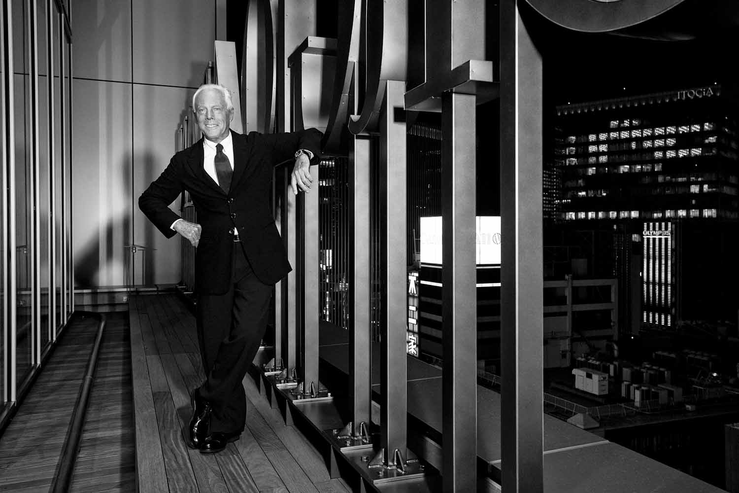 Giorgio Armani Visits Tokyo to Celebrate the Reopening of the Armani/Ginza Tower