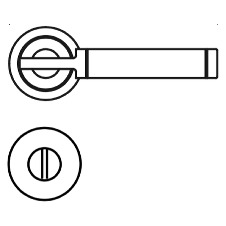 Door Handle With Privacy Lock