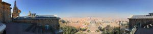 MNAC, Panoramabild von der Dachterrasse aus