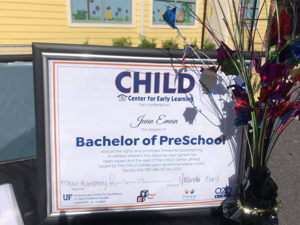 "A 2020 ""Bachelor of Preschool"" diploma"