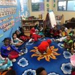 CHILD Center students wearing costumes to celebrate Halloween