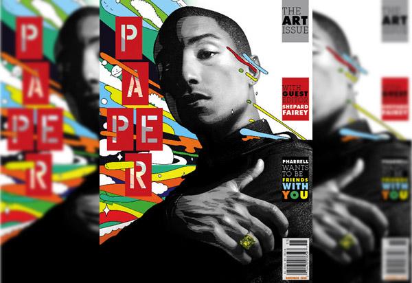 Pharrell Covers PAPERMAG   SWGRUS