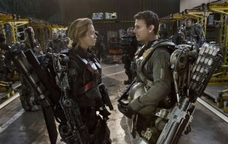 """Emily Blunt & Tom Cruise in """"Edge of Tomorrow,"""" one of the sharpest summer blockbusters in years."""