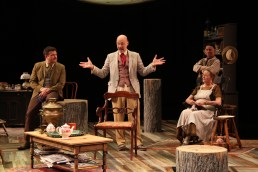 "Ryan Rilette, Mitchell Hebert, Nancy Robinette, and Mark Jaster in ""Uncle Vanya."" (Danisha Crosby)"